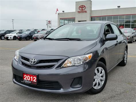 Toyota Corolla 2012 Mpg 2012 Toyota Corolla Ce Lindsay Ontario Used Car For