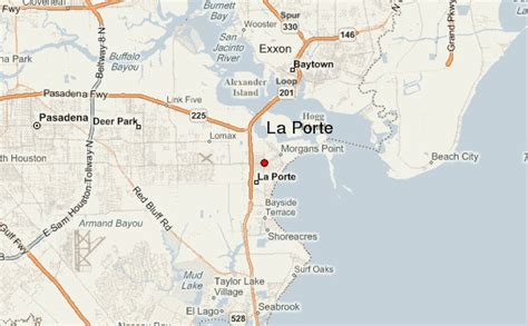 la porte texas map la porte location guide