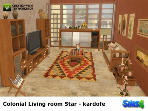 colonial living room furniture colonial livingroom star by kardofe at tsr 187 sims 4 updates