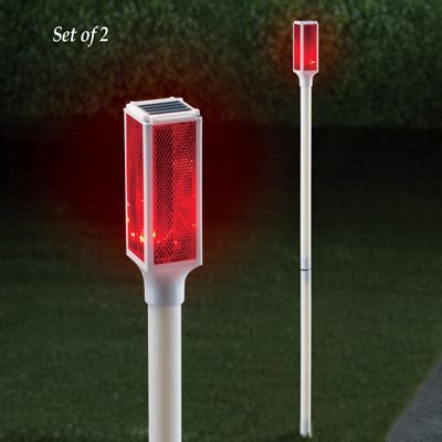 solar lights driveway solar driveway marker lights set of 2 from collections etc
