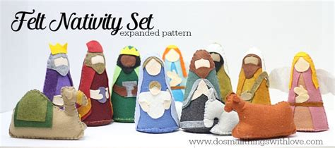 free pattern for felt nativity set catholic crafts do small things with great love