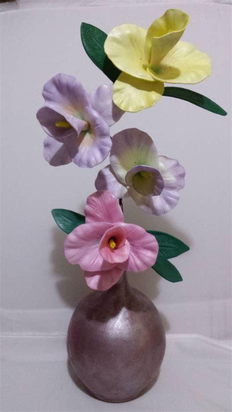 flores de foamy o goma eva planas o con termoformado fino flores hechas con tiras de foamy o goma eva youtube flores