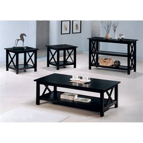 coaster casual 4 occasional table set in