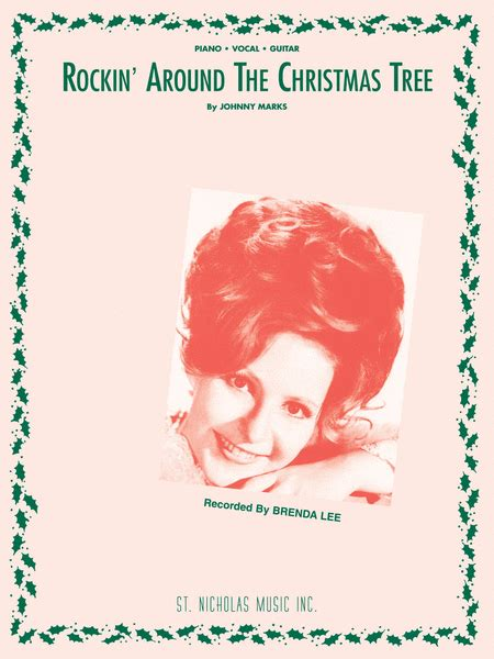 rockin around the christmas tree sheet music by brenda