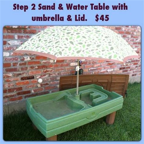 Step 2 Water Table With Umbrella by Step 2 Water And Sand Table For Sale