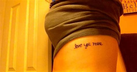 tattoo love you more my newest tattoo quot love you more quot written in my moms