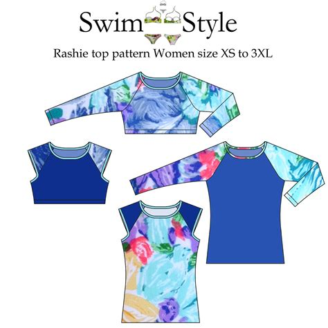 sewing pattern exchange rashie top swim vest sewing pattern women swim style