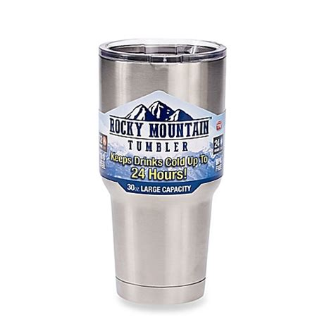 rocky mountain 30 oz tumbler with lid bed bath beyond