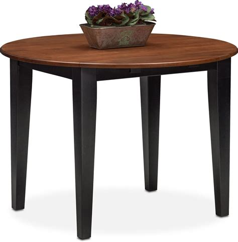 black dining room table with leaf nantucket drop leaf table black and cherry american