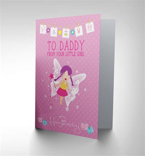 Gift Cards For Dads - birthday dad father daughter girl new art greetings gift card cp1903 ebay