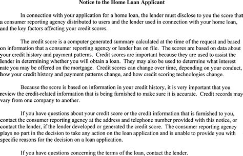 15 usc section 1601 federal credit score disclosure notice credit reports