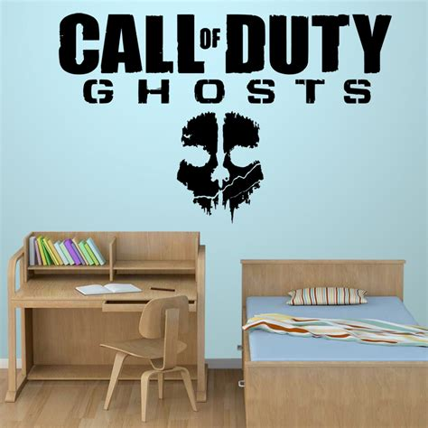 black ops bedroom decor call of duty ghosts wall stickers decals