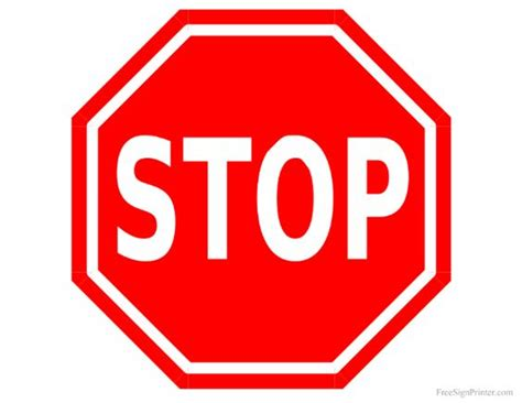 How To Make A Stop Sign Out Of Paper - printable stop sign stick on foam cut out and glue on