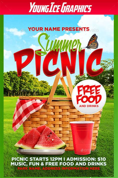 55 Summer Flyer Designs Design Trends Premium Psd Vector Downloads Summer Picnic Flyer Template