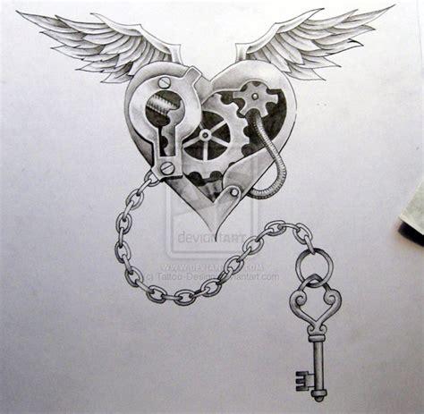 Heart lock chest tattoos for womenhelenasaurus