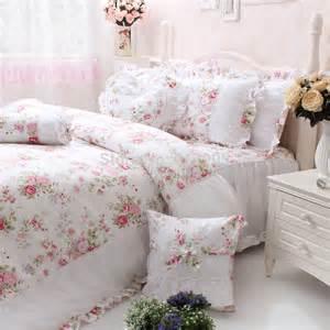 vintage floral duvet pink print bedding set size