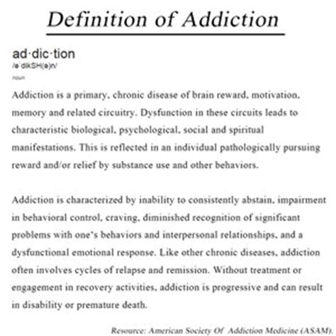Detox Center Definition by Asam Addiction Is A Disease Thewatershed