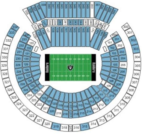 oakland raiders 3d seating image gallery oakland coliseum seating chart