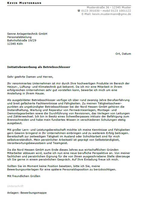 Bewerbung Anschreiben Vorlage Schlosser Bewerbung Betriebsschlosser Ungek 252 Ndigt Berufserfahrung Sofort