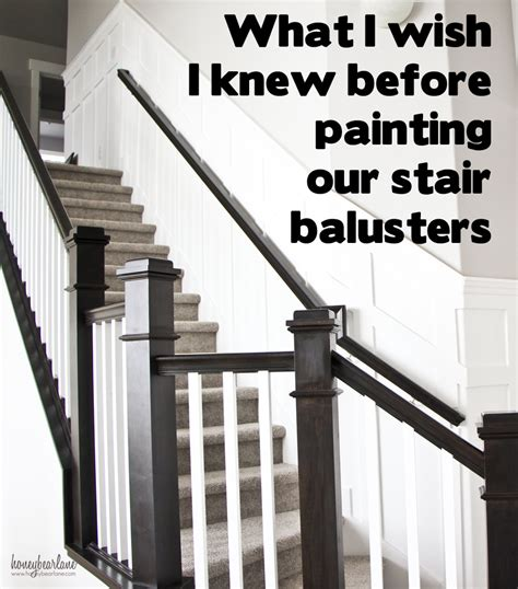 banister rail and spindles tips for painting stair balusters honeybear lane