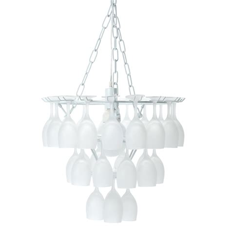 Wine Glass Chandelier Uk Vino Frosted Wine Glass Chandelier Barmans Co Uk
