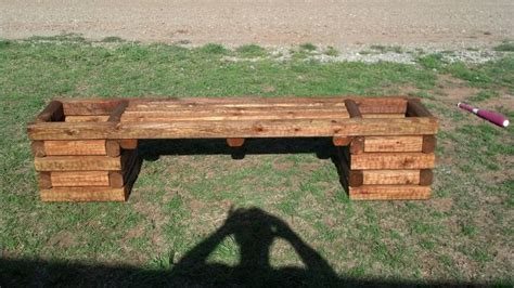 timber garden bench 4 foot bench double planter landscaping timber