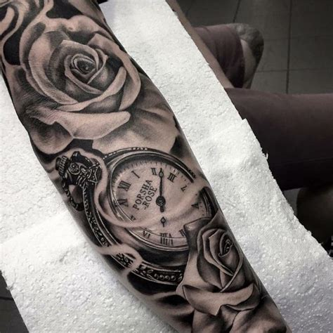 pocket watch tattoos for men 25 best ideas about sleeve tattoos on
