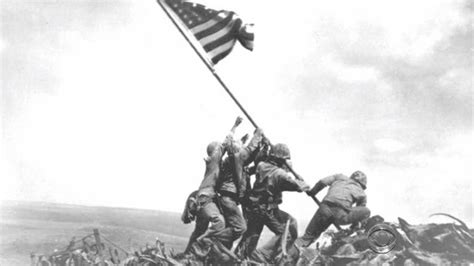 raise the siege feb 23 1945 u s flag raised on iwo jima cbs