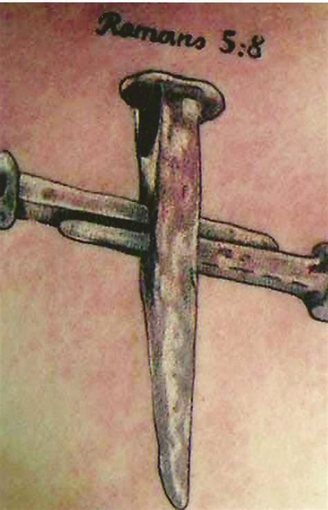 cross of nails tattoo tattoos on hurley biblical tattoos and wing