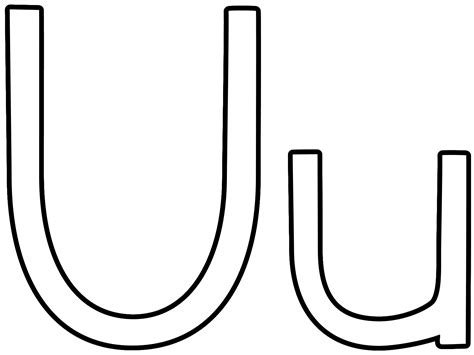 Coloring Pages Of Letter U | letter u coloring pages to download and print for free