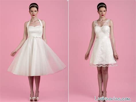 fotos vestidos de novia años 60 vestidos cortos de novia por toby hannah