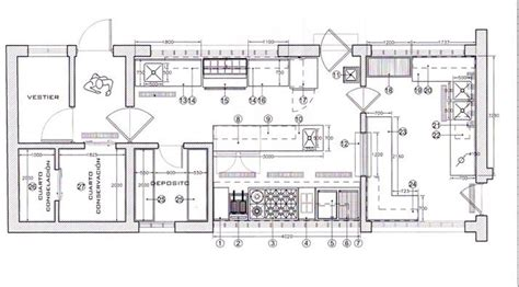 cocinas planos planos de cocinas de restaurantes 3d buscar con