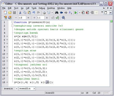 Aljabar Linear Dilengkapi Dengan Program Matlab membuat inversi matriks 2 215 2 dan 3 215 3 dengan matlab rahmadya trias handayanto