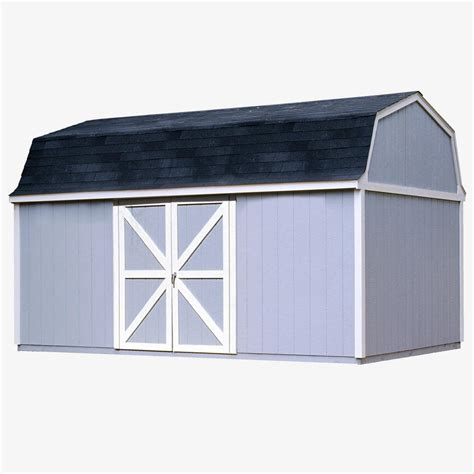 10 X 16 Wood Shed Kit With Floor - handy home products somerset 10 ft x 16 ft wood storage