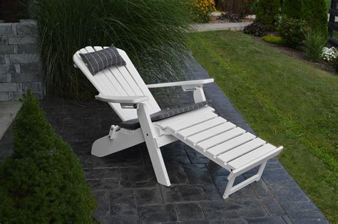 folding adirondack chair with ottoman a l poly folding and reclining adirondack chair with