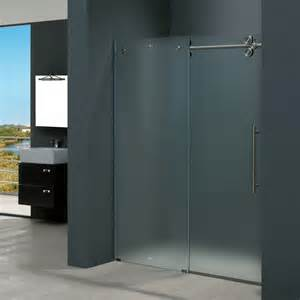60 inch frameless glass shower doors vigo 60 inch frameless shower door 3 8in frosted glass