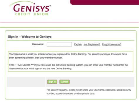 genisys bank genisys credit union banking login banking