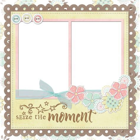 photo frames collage template pink collage style photo frame psd 03 templates