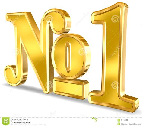 one images number one sign stock photography image 21715982