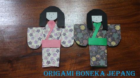cara membuat origami boneka jepang tutorial origami boneka jepang