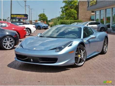 silver blue color 2012 azzuro california blue silver metallic 458
