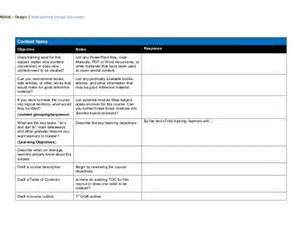 document template design isd addie design document template