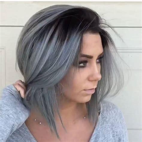 ombre hair cheveux mi longs coiffure simple  facile