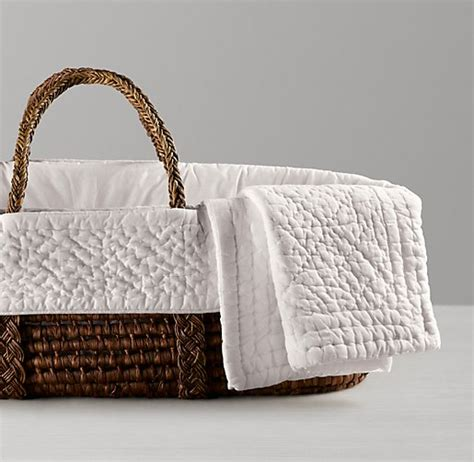 heirloom quilted voile moses basket bedding espresso