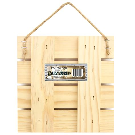 Blank Pallet Sign 7x7 Natural Wood