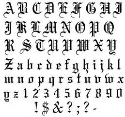 Old english letters tattoos alphabet