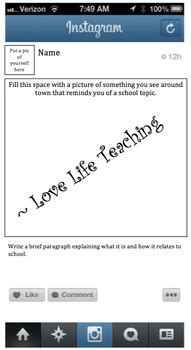 Instagram Template Ms Word Doc File By Love Life Teaching Tpt Instagram Template Docs
