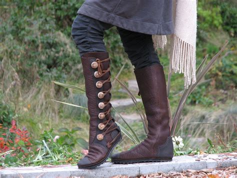 Handmade Leather Moccasin Boots - knee high s boots custom leather moccasin