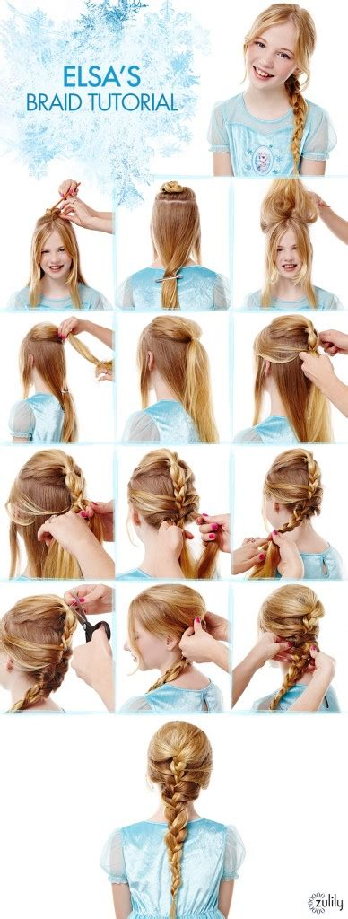 step by step written instructions for braids frozen hair tutorials elsa and anna hacks elsa hair