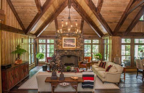 muskoka log home rustic outdoor lighting toronto classic lakeside muskoka cottage rustic living room